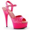 DELIGHT-609UVG Neon Hot Pink Glitter